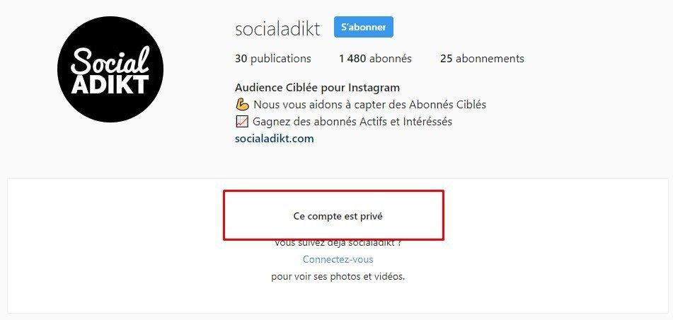 comment mettre son profil instagram en privé