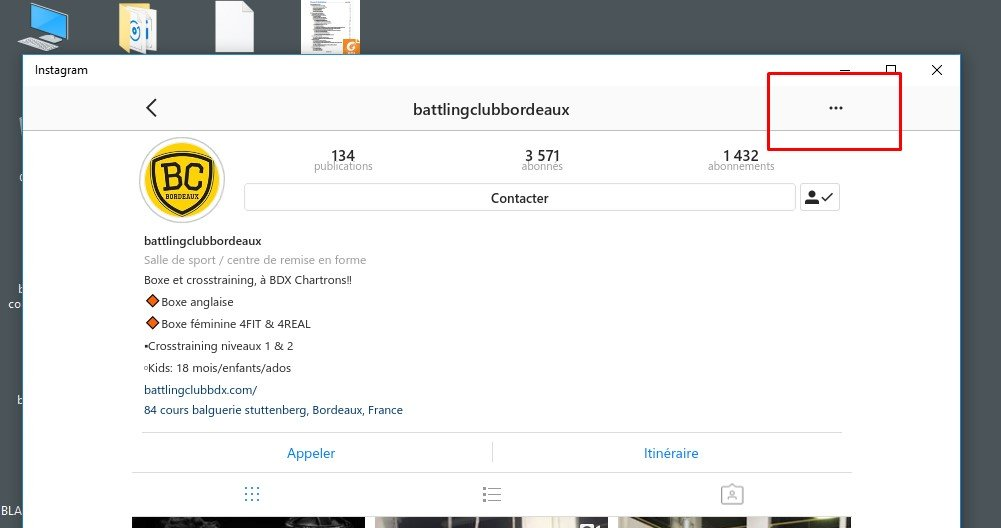 envoyer un message instagram sur pc