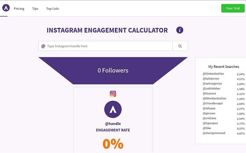 taux d'engagement instagram